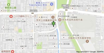 【地図】プラウド茨木東中条