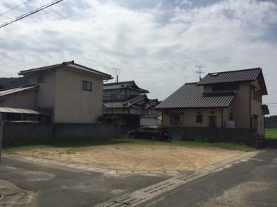【前面道路含む現地写真】邑久町本庄土地