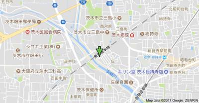 【地図】アンフィニィ庄Ⅱ
