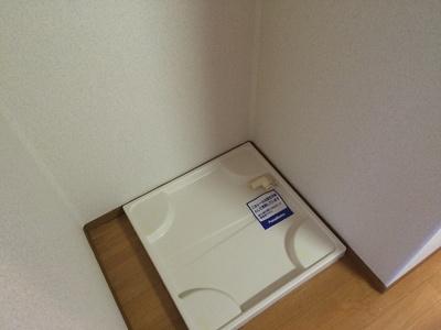 室内に洗濯機が置けます。