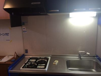 システムキッチンでお料理も快適。