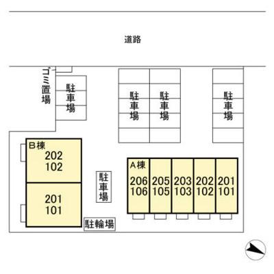 【区画図】ロイヤルブルーオーシャン・A棟