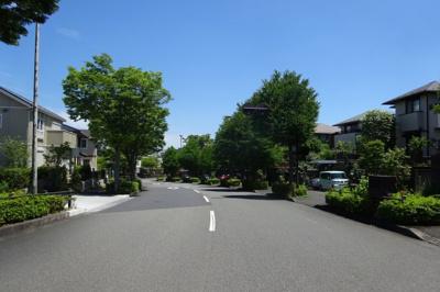 道路の幅員20m 歩道もしっかり整備されています。