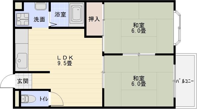 恵我ノ荘駅 羽曳野市南恵我之荘2丁目 2LDK