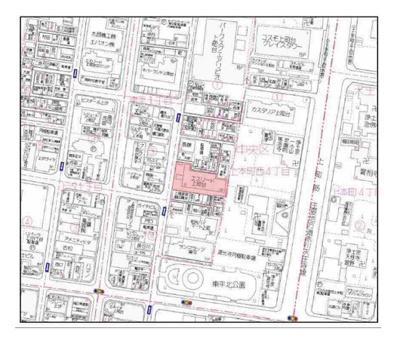 【地図】エスリード上町台