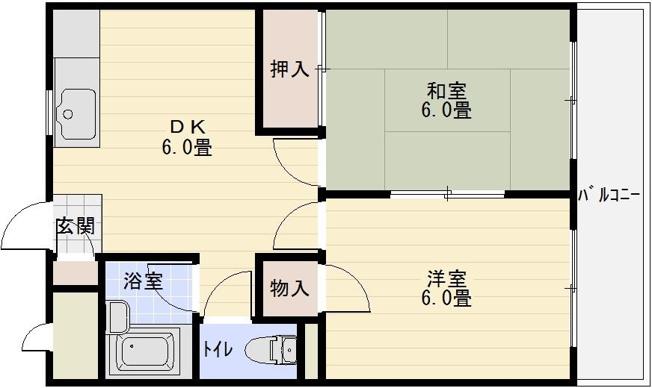 高安一番館 2DK