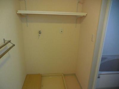 洗面所には室内洗濯干しスペースや収納がたくさんあります
