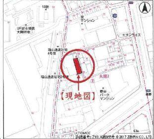 【地図】大阪市福島区大開3丁目1-45付近 C号地