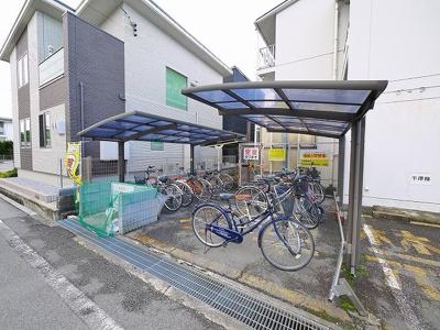 使いやすい自転車置き場です。