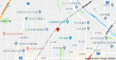 【地図】コスミオン上中条