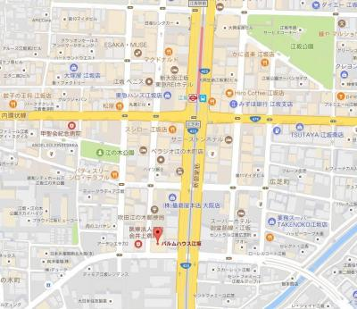 【地図】パルムハウス江坂