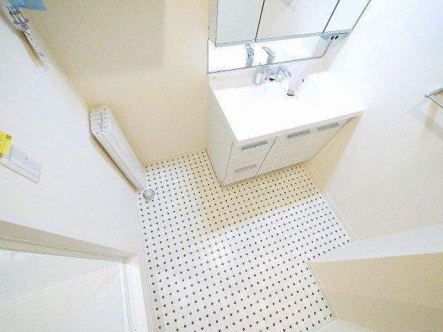 広い洗面スペース