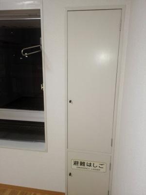 洋室の半間の収納の扉を閉めたところ