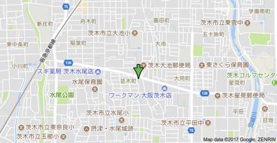 【地図】ハイツ並木