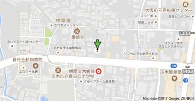 【地図】パロス茨木中穂積