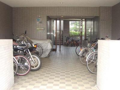 自転車置場♪