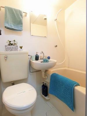 3点ユニットバスでお掃除ラクラク!浴室内に洗面台・トイレ付きです☆お風呂に浸かって一日の疲れもすっきりリフレッシュ♪