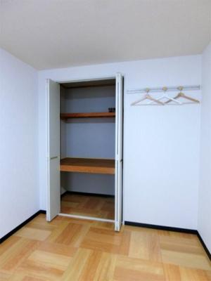 洋室5.5帖のお部屋にある収納スペースです☆収納スペースが2ヶ所あるのでお荷物の多い方も安心ですね◎