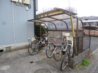 屋根付き駐輪場☆