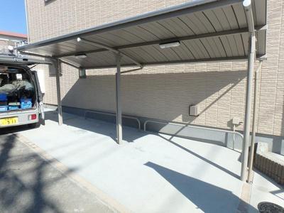 嬉しい屋根付駐輪場♪