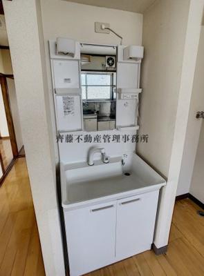 シャンプードレッサー付きの独立洗面台