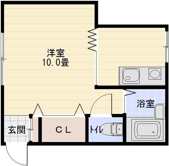 アパート京屋 高鷲駅 1K 角部屋