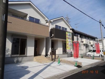 【前面道路含む現地写真】さいたま市北区吉野町1丁目 現地見学会新築2棟・南道路