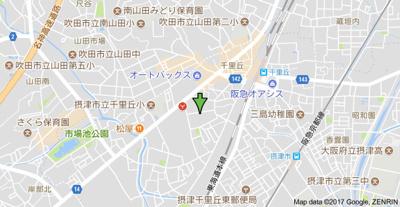 【地図】アヴェニール千里丘東