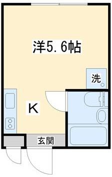 使いやすい1ルームタイプのお部屋です。