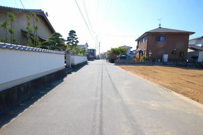 【前面道路含む現地写真】筑後市長浜 土地