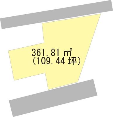 【区画図】【売地】西浜中学校区・120178