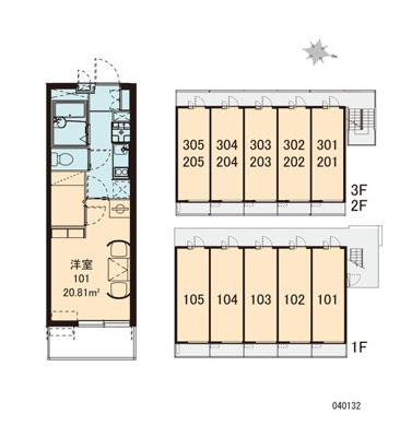 【区画図】レオパレス Eagle南丹