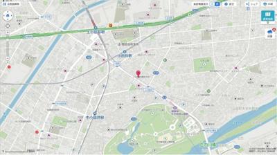 【地図】レジデンス南川