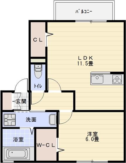 八尾南駅 1LDK