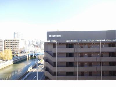 バルコニー(5階)からの眺望・北東向きです。