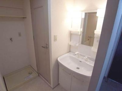 洗濯機置き場、洗面台