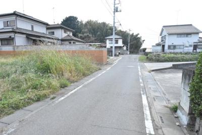 【前面道路含む現地写真】鴻巣市登戸 売地(市街化調整区域・専属)