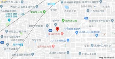 【地図】辻田2戸1貸家 (株)Roots