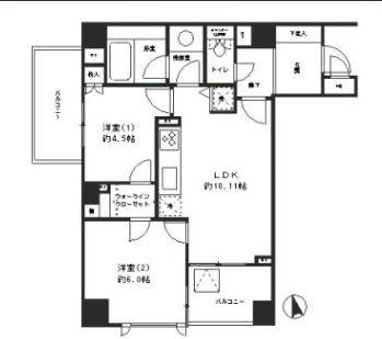 【レジディア文京湯島】2LDK・50.72㎡