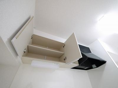 キッチン上部の棚です