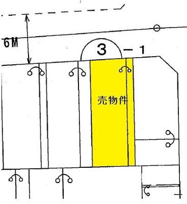 【区画図】前橋市六供町 住宅用地 280万円