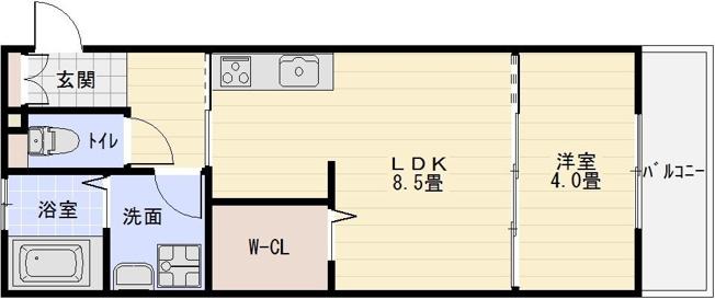 D-room河内国分 1LDK
