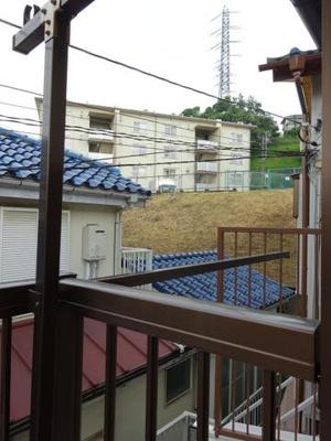バルコニーからの眺望です♪2階からの眺めは良好!