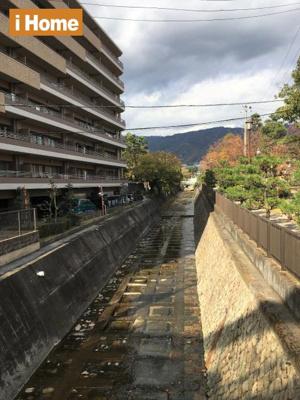 マンション東側には石屋川が流れています。 石屋川公園が北側にあるので、毎日のお散歩コースにおすすめです!