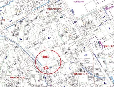 【地図】児島下の町3丁目 売地