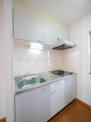 料理も楽しく出来る2口ガスコンロ・システムキッチンです。
