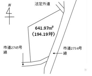 【区画図】守谷市大柏 売地