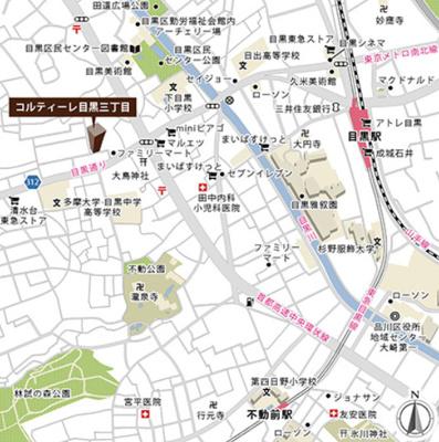 コルティーレ目黒三丁目の地図