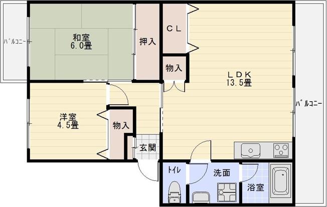 河内国分駅 2LDK