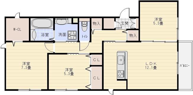 Casa Calma カーサカルマ(河内国分駅)3LDK